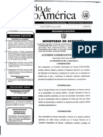 Acuerdo Gubernativo 261-2006 Alcohol