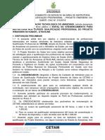 Edital n 010 Credenciamento Projeto Itinerario Saber