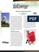 Ethanol and Energy Policy