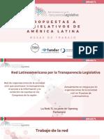 Propuestas a Legislativos de América Latina, 15nov17