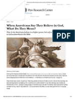 americans beliefs about the nature of god   pew research center