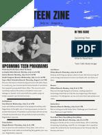 July 22 - August 4 Teen Zine