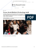 teens social media   technology 2018   pew research center