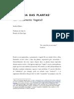 FILOSOFIA DAS PLANTAS