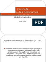 16907309 Cours de GRH Gestion Ressources Humaines