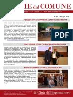 Notizie Dal Comune di Borgomanero del 19 Luglio 2018
