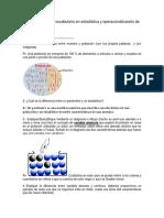Tipos de Variables  Aleatorias y vocabulario