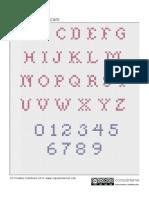 5025 Punto Cruz Letras