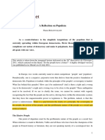 Pierre Rosanvallon - Reflection on Populism
