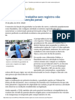 ConJur - Flanelinha Que Trabalha Sem Registro Não Comete Contravenção Penal