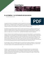 El Automóvil y La Fotografía de Sus Inicios _ Dimensión Antropológica