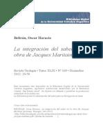 La integración de los saberes en Jaques Maritain - Oscar Horacio Beltrán
