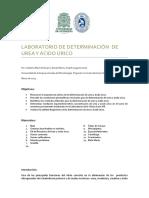 DETERMINACION DE ACIDO ÚRICO Y DE UREA