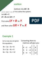 LU Decomposition and Inverse Matrix