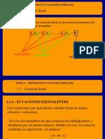 1.7 Ecuaciones Lineales