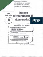 Unasam 2018 - i (Examen de Exonerados) Hz 25-03-2018