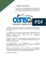 Censo de Población 2018