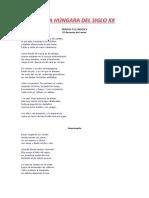 POESÍA HÚNGARA DEL SIGLO XX (PARTE 9)