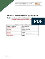 Protocolo de Pruebas - Rectificador - Cañaveral