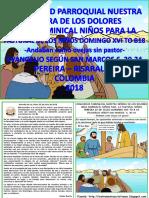 HOJITA EVANGELIO NIÑOS DOMINGO XVI TO B 18 Color