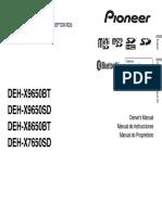 Deh-x9650bt Deh-x9650sd Deh-x8650bt Deh-x7650sd Operating Manual Eng - Esp - Por