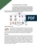 Afecciones Hematopoyéticas en La Infancia (1)