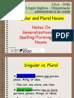 Ufcd 0386 -Plural Nouns Generalizations Compounds