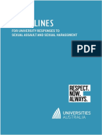 Universities Australia guidelines for addressing sexual assault harassment on campus