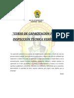 PROYECTO CURSO Inspeccion Técnica Vehícular