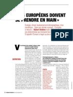 Hubert Védrine ''Les européens doivent se prendre en main''