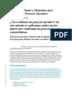 Planos y Elementos Para Proyecto Ejecutivo