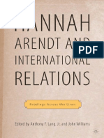 Hannah Arendt and International Relations Readings Across the Lines Palgrave Macmillan History of International Thought
