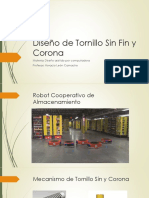 Diseño de Tornillo Sin Fin y Corona