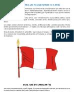 Composición a Las Fiestas Patrias en El Perú