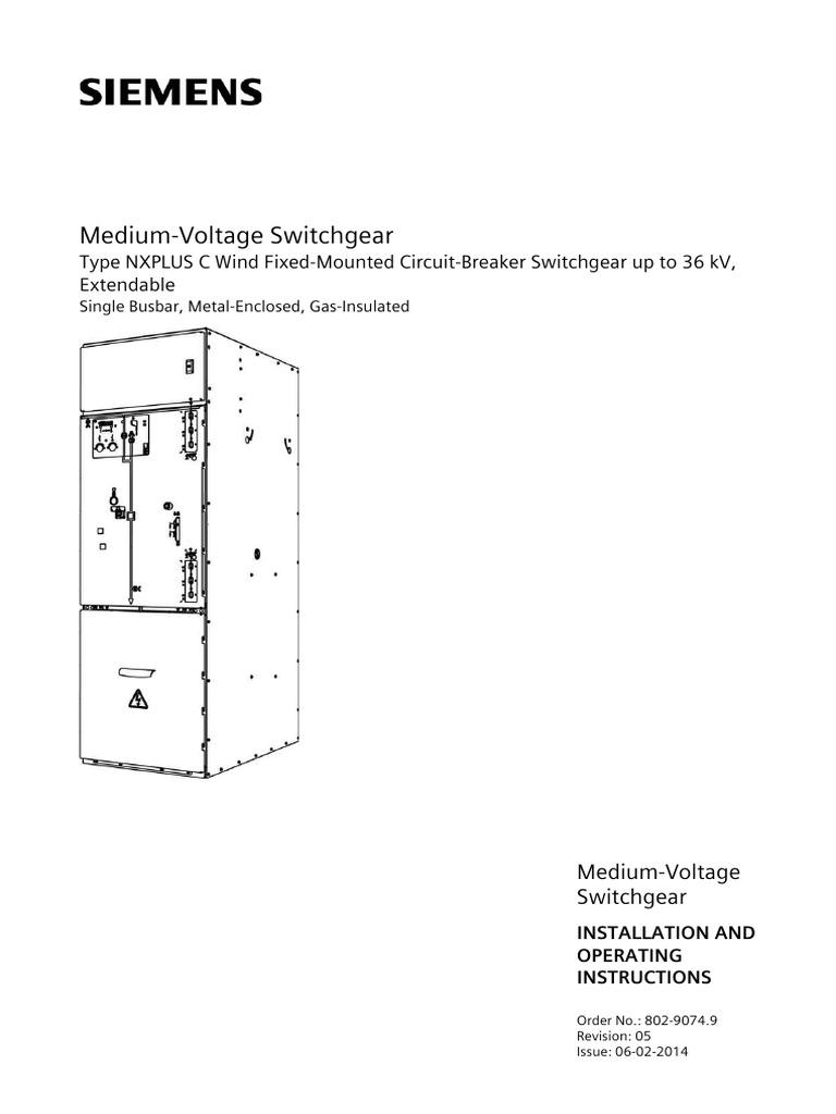 Siemens Switchgear Medium Voltage MV 33kV T Plug Cable Connectors