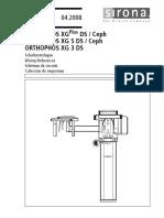 Sirona Orthophos XG Dental X-Ray - Wiring Diagrams