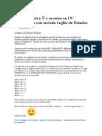 Agregar Letras en El Teclado en Ingles