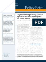 Long-Term Challenges Facing European Agriculture