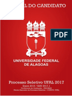 Manual Do Candidato Ufal Sisu 2017.1