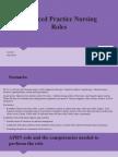 advanced practice nursing roles s kelly