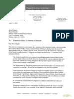 Letter to Moreno Valley school board member Jesus Holguin