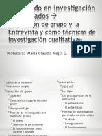 metodos cualitativos de investigacion de mercados