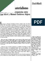 El Arte y El Materialismo Jose Marti y Manuel Gutierrez Najera
