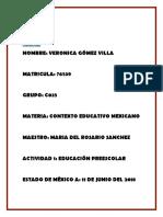 Actividad 1 Contexto Educativo Mexicano