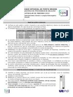 Prova Conhecimentos Gerais UEPG 2016