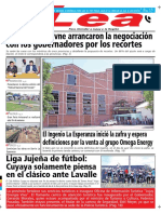 Periódico Lea Viernes 20 de Julio Del 2018