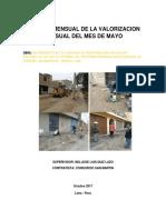 Informe Mensual de La Valorizacion Mensual Del Mes de Mayo