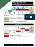 1. Kalender Pendidikan 2018-2019 Sd, Smp, Sma.ma, Smk Isi (1)