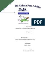 Int. a La Ciencias de La Edicacion Tarea 1de Darlina