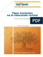 Tipos textuales en la educación virtual